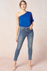 Cobalt One Shoulder Top