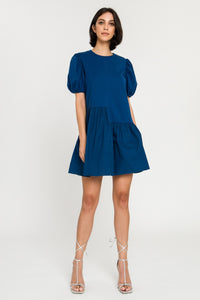 Knit Poplin Mix Dress