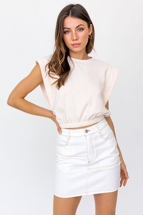 Cropped Muscle Tee