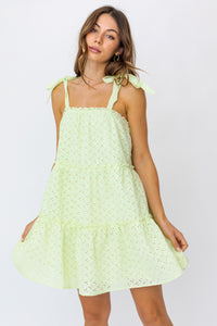 Avocado Eyelet Dress