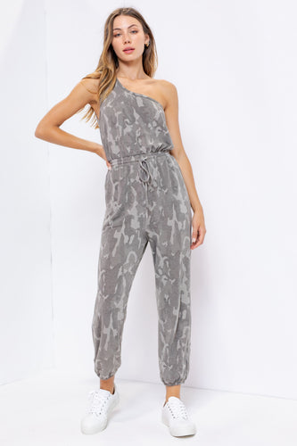 Camo One Shoulder Jumpsuit