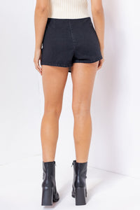 Black Denim Skort