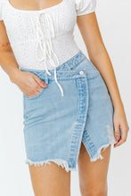 Asymmetrical Denim Skirt