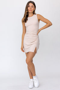 Almond Fitted Dress