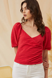 Red Puff Top
