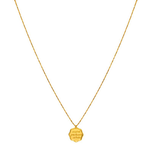 Impossible N'est Pas Francais Medallion Necklace