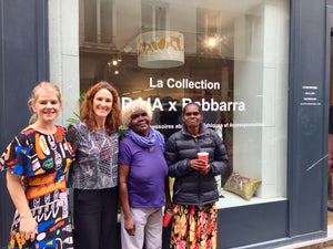 Photos du lancement de la collection IDAIA x Babbarra Women's Centre à Paris