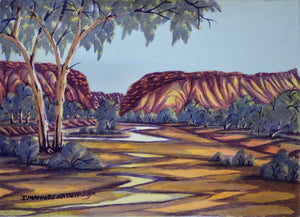 "Johannes Katakarinja - ""The Gap, Alice Springs"", 2012"