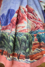 SKIRT [CLOSE-UP] Hubert-Pareroultja - Mount Giles, 2015 - 1950s style circle skirt - Limited edition of 10 - Digital printing on linen and cotton blend, lined with silk, entirely hand-sewn