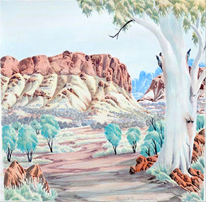 "Hubert Pareroultja - Foulard ""West MacDonnell Ranges"""