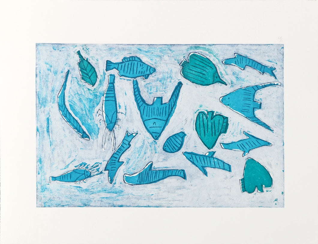 Estampe 'Rocky Point Sea Life (Vie Sous-Marine à Rocky Point)' de Miriam Jinmanga