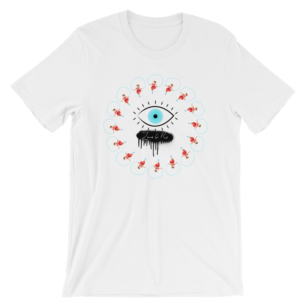 Love And Rx: Eye Love And Rx Short-Sleeve Unisex T-Shirt - White