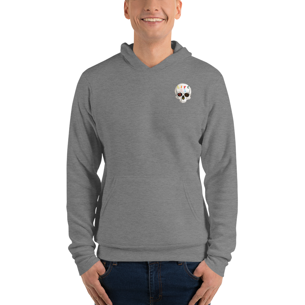 Love And Rx: Peeled Banana Life Is Love And Rx Skull Unisex Pullover hoodie - Deep Heather