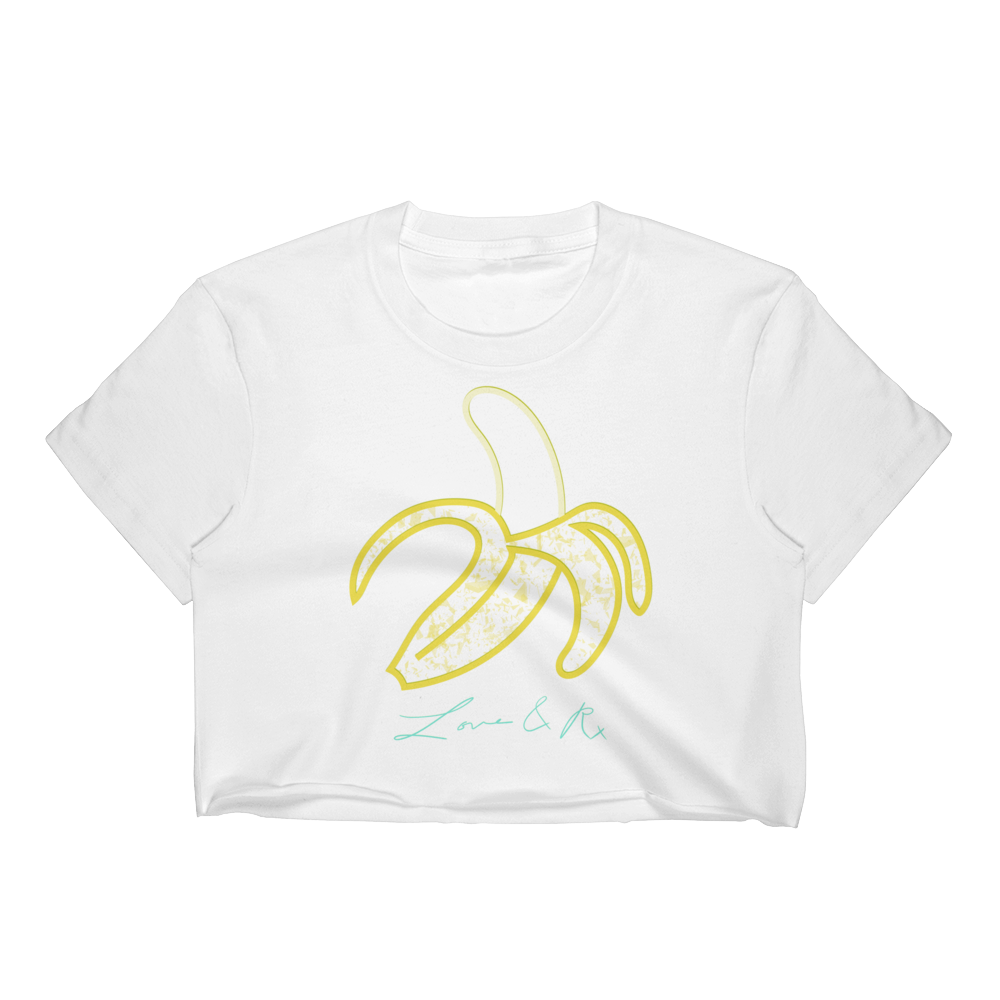 Love And Rx: Peeled Banana Love And Rx Women's Crop Top - White