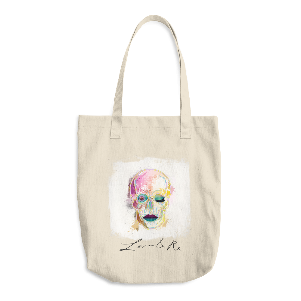 Brahman Skull Love And Rx Denim Cotton Tote Bag