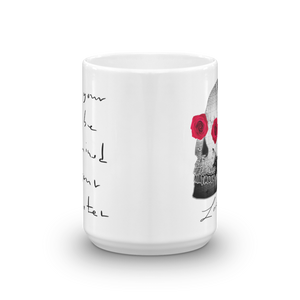 She He Rose Skull Love And Rx 15oz Mug