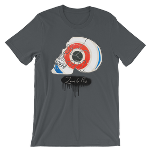 Love And Rx: Target Profile Skull Winged Sun Disc Love And Rx Short-Sleeve Unisex T-Shirt - Asphalt