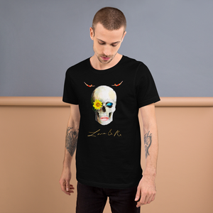Lucid Dreamer Flower Skull Divers Short-Sleeve Unisex T-Shirt - Black