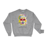 Love And Rx: King Yama Skull Winged Sun Disc Love And Rx Champion Crewneck
