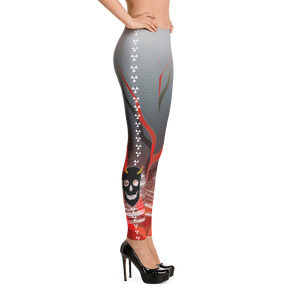 Horned Shadow Masked Skull Inferno - Yoga Dance Pilates Leggings