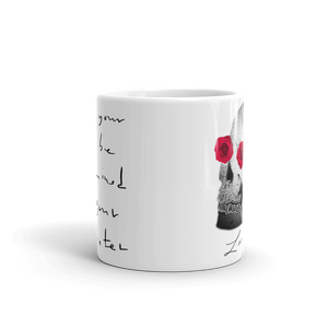 She He Rose Skull Love And Rx 11oz Mug