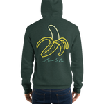 Love And Rx: Peeled Banana Life Is Love And Rx Skull Unisex Pullover hoodie - Heather Forest