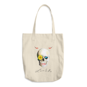 Lucid Dreamer Skull Love And Rx Denim Cotton Tote Bag