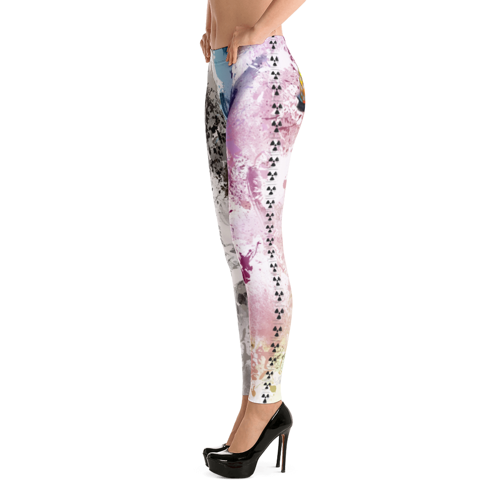 Polar Paint Drip Winking Eye Yoga Dance Pilates Leggings