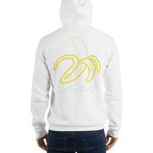 Love And Rx: Peeled Banana Life Is Love And Rx Skull Unisex Pullover hoodie - White