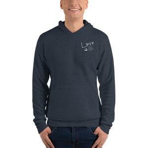 Love And Rx: Brahman Skull Life Is Love And Rx Unisex Pullover Hoodie - Heather Navy