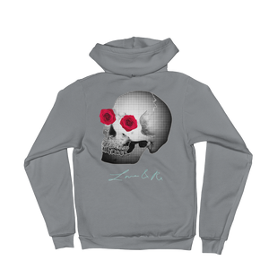 Love And Rx: She He Rose Skull Love And Rx Zip Hoodie Sweater - Asphalt