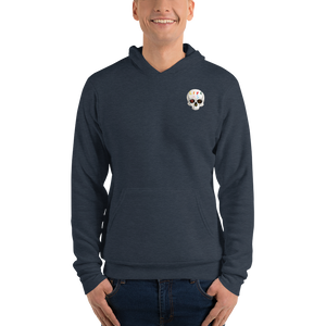 Love And Rx: Peeled Banana Life Is Love And Rx Skull Unisex Pullover hoodie - Navy Forest