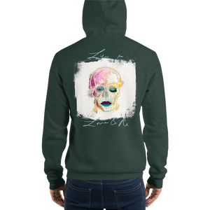 Love And Rx: Brahman Skull Life Is Love And Rx Unisex Pullover Hoodie - Heather Forest