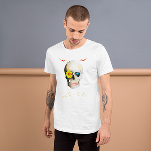 Lucid Dreamer Flower Skull Divers Short-Sleeve Unisex T-Shirt - White