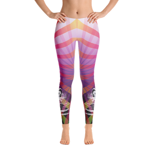 Rainbow Rays Ram Skull Yoga Dance Pilates Leggings