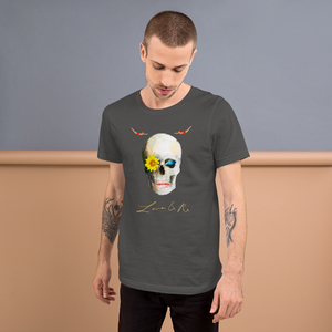 Lucid Dreamer Flower Skull Divers Short-Sleeve Unisex T-Shirt - Asphalt