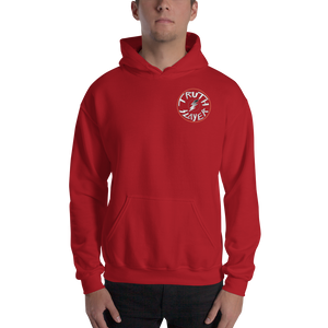 Love And Rx: 3rd Eye Flaming Skull Truth Slayer Hooded Sweatshirt Print On 50-50 Hooded Sweatshirt - Red