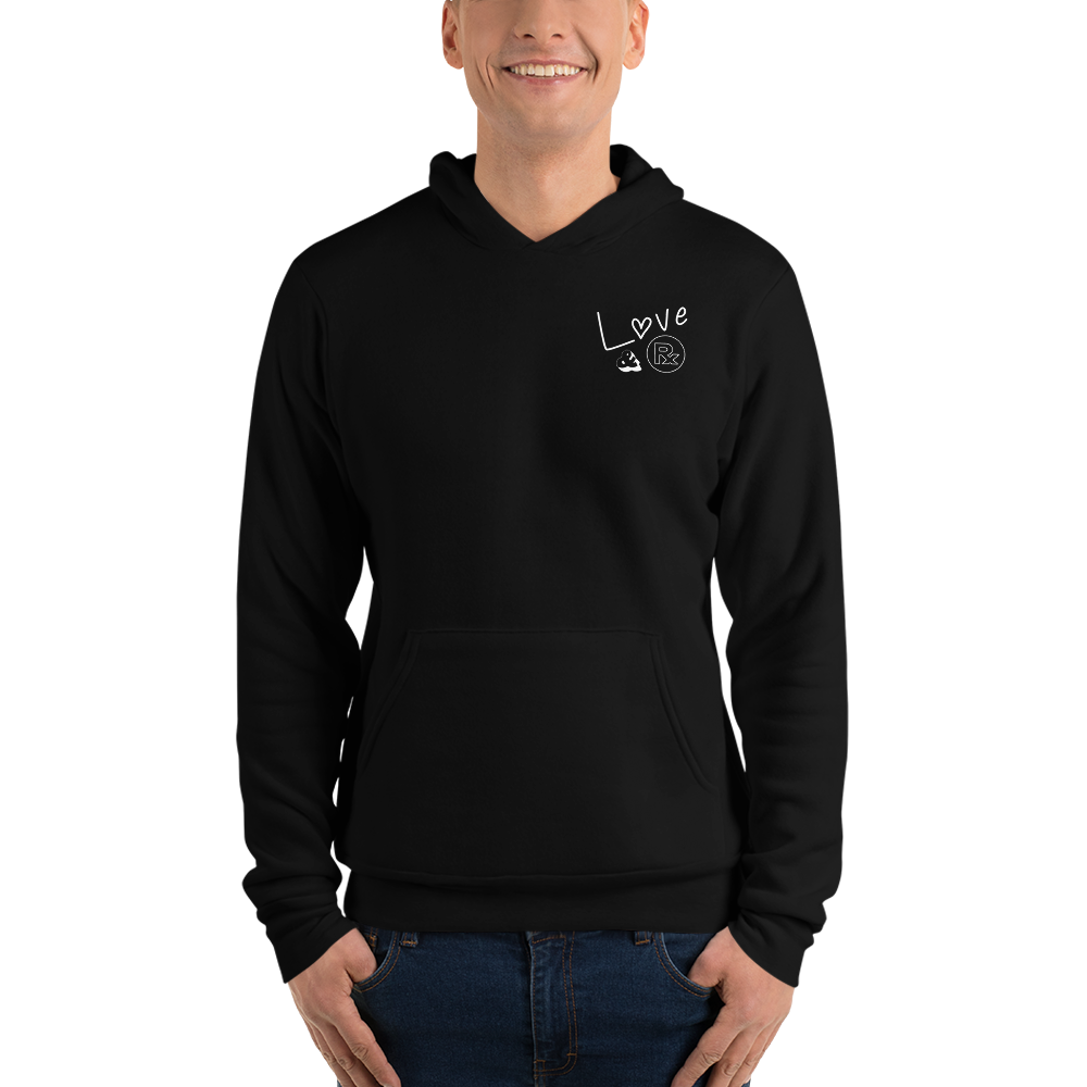 Love And Rx: Brahman Skull Life Is Love And Rx Unisex Pullover Hoodie - Black