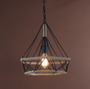 Retro Hemp Rope Pendant Lamp