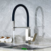 Modern Kitchen Faucet with Black Flex-neck