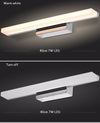 Modern Acrylic Bathroom Wall Light Fixture