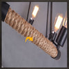Vintage Industrial Iron-Rope Edison Chandelier