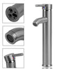 Tall Brushed Stainless Steel Faucet