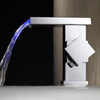 Modern LED Waterfall Bathroom Faucet