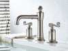 Luxury Basin Faucet Dual Holder Three-hole Bathroom Faucet Brushed Nickel