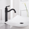 Classic Single Handle Extended Luxury Bathroom Faucet - Black CP BN ORB