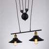 Retro Iron Edison Loft Pulley Pendant Lights