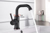 Single Handle Oil Rubbed Bronze Contemporary Bathroom Faucet