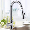 "Polished Chrome 16"" Pull-Out Kitchen Faucet"