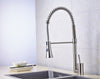 Solid Brass Pull Down Spring Kitchen Faucet